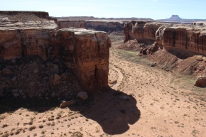 Numerous valleys carved over hundreds of thousands of years