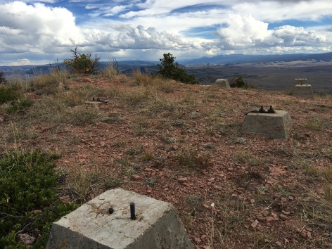 The old concrete feet for a fire tower that once existed here