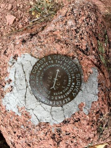 USGS Geodetic Survey marker for Jelm mountain