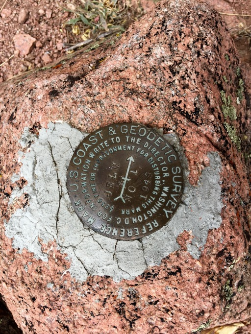 USGS Geodetic Survey marker for Jelm mountain