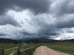 Stormy clouds near the start of the eastern side